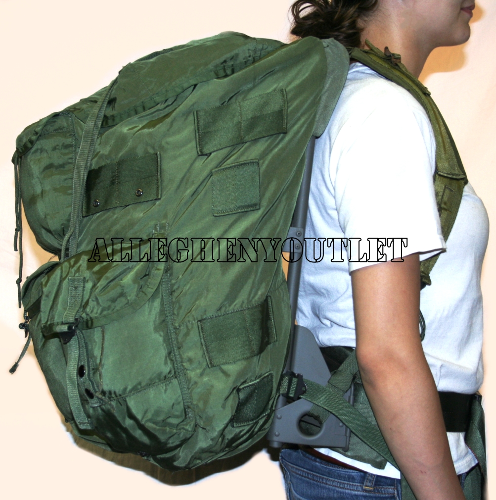LARGE OD ALICE Field Pack LC 1 w  FRAME Rucksack VG Condition on ... b8b0d239e624