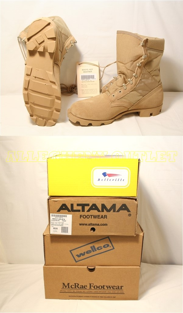 Nib Us Military Coolmax Panama Combat Boots Desert Tan
