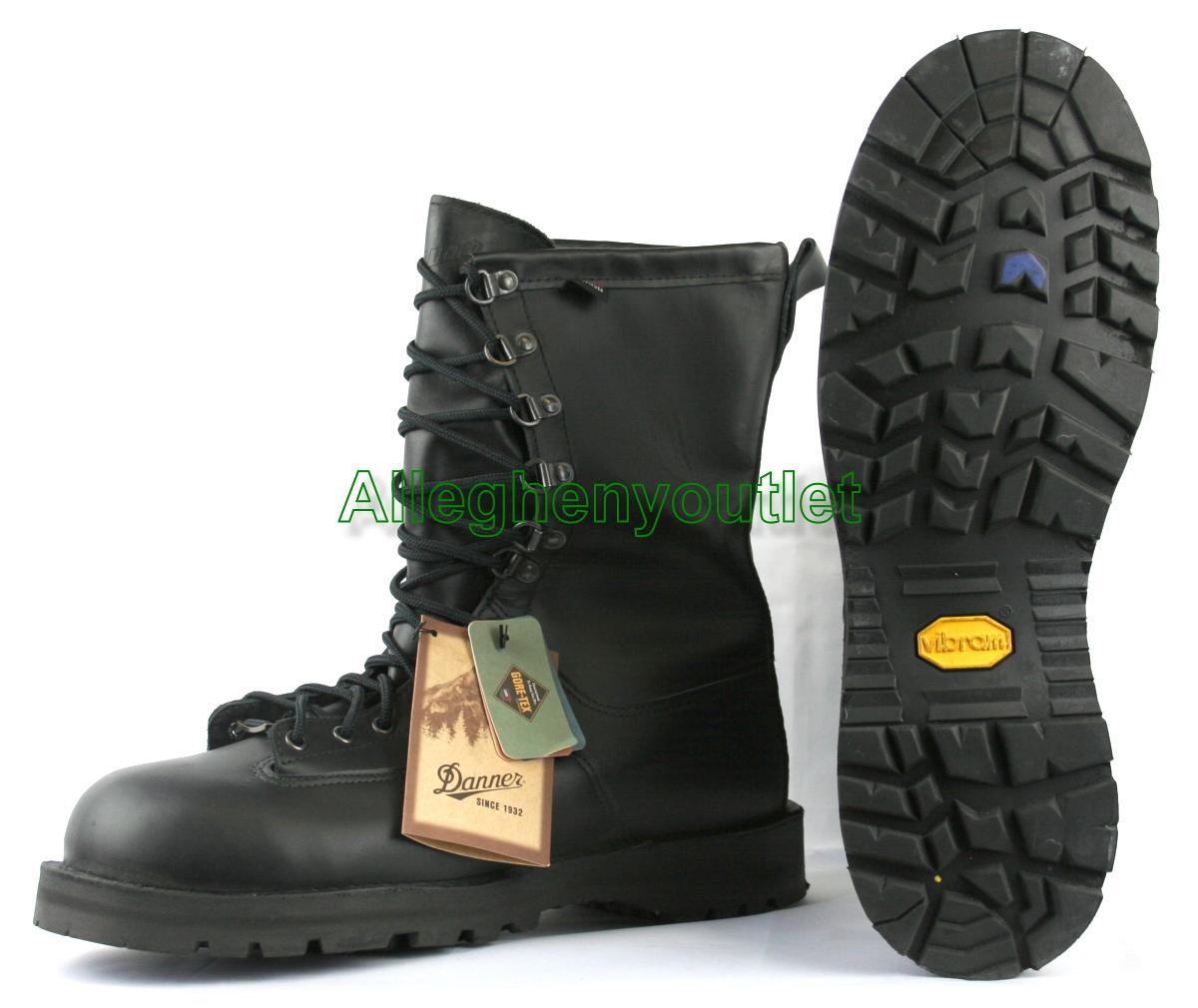 Danner 600g Gtx Goretex Full Leather Steel Toe Black