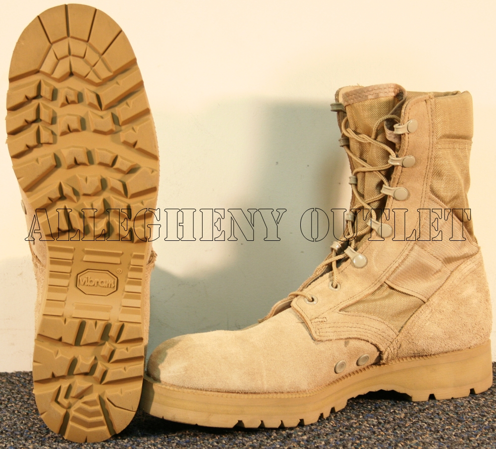 USGI Mens US ARMY LEATHER LUG SOLE JUNGLE COMBAT BOOTS NEW ...
