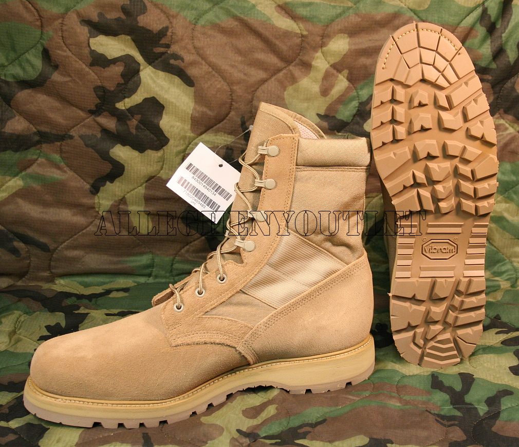 GENUINE U.S. MILITARY ISSUE Thorogood 8430 Desert Tan Steel Toe ...