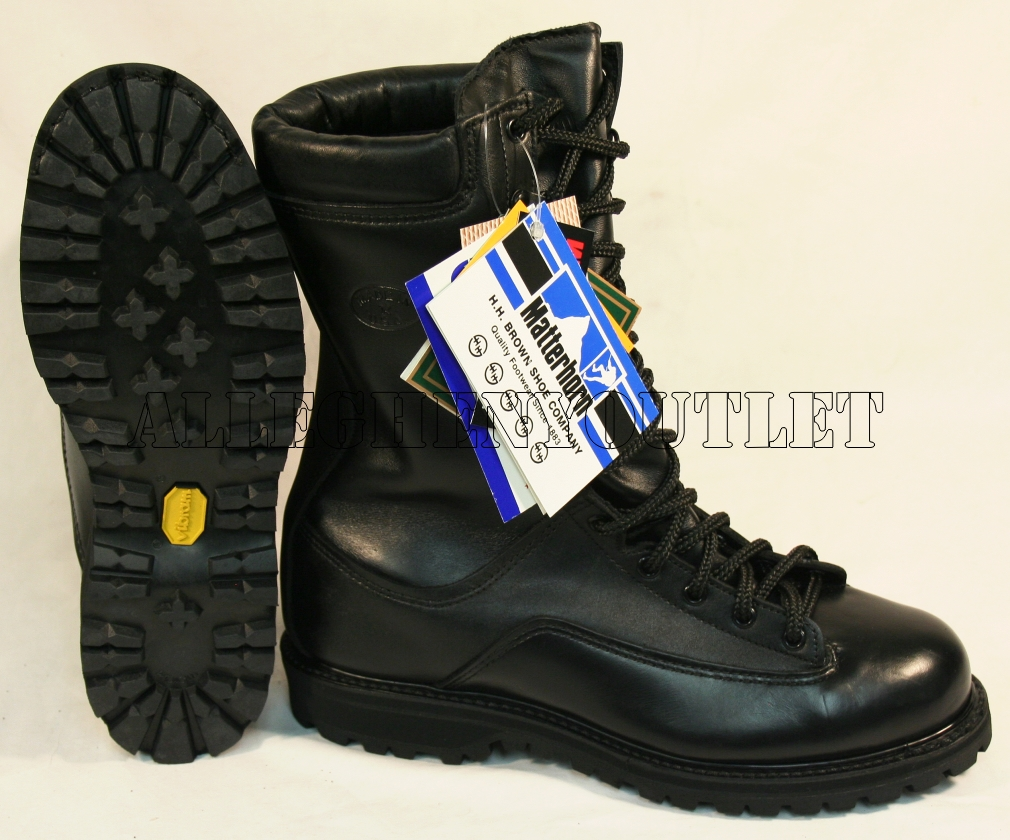 GENUINE U.S. MILITARY ISSUE Matterhorn Combat Boots FULL LEATHER ...