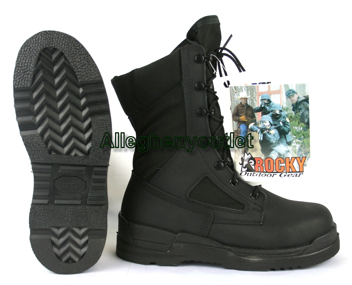 Boys Youth ROCKY US Navy Military SAFETY Steel Toe COMBAT BOOTS ...