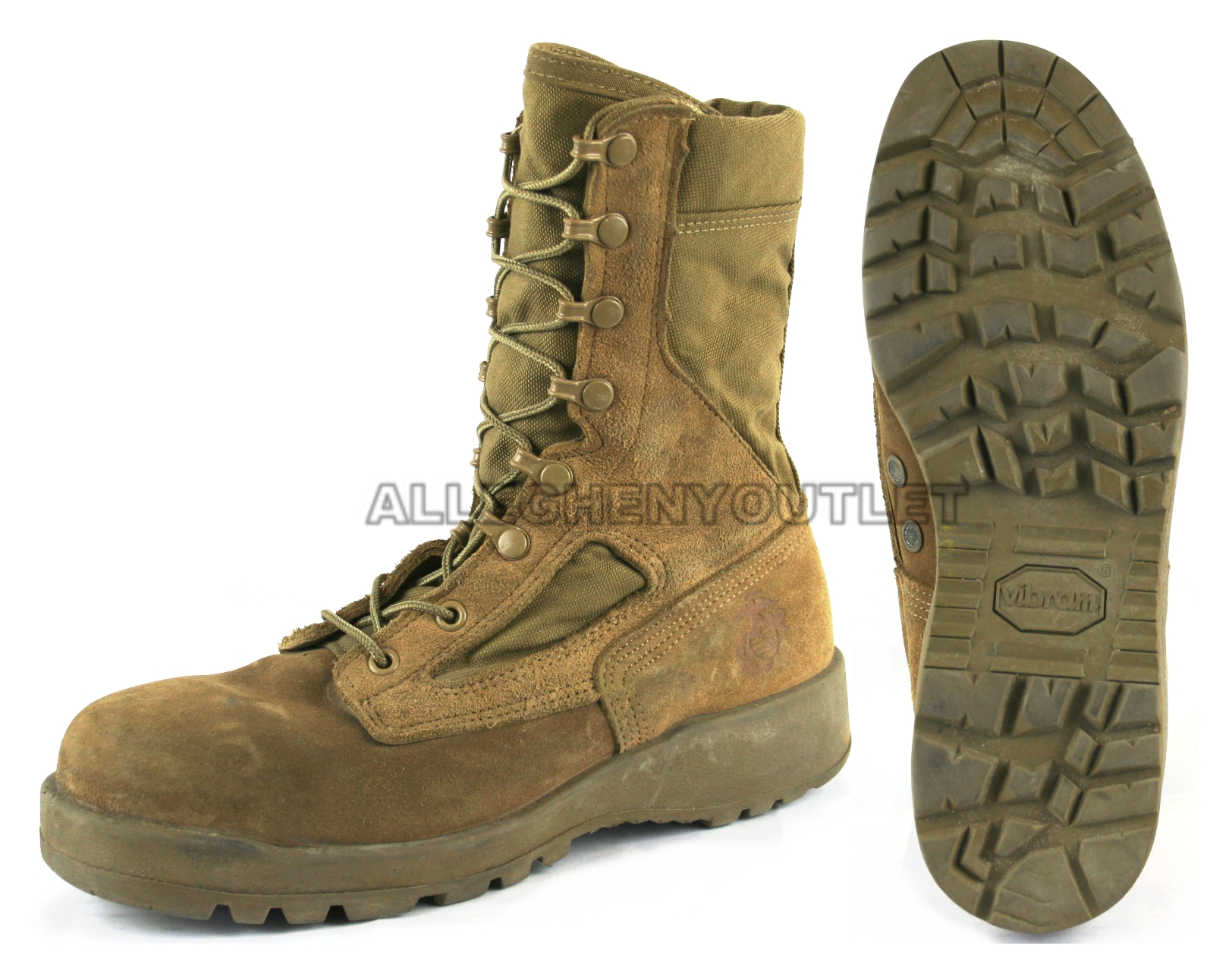 Us Military Hot Weather Coolmax Combat Boots Vibram Sole
