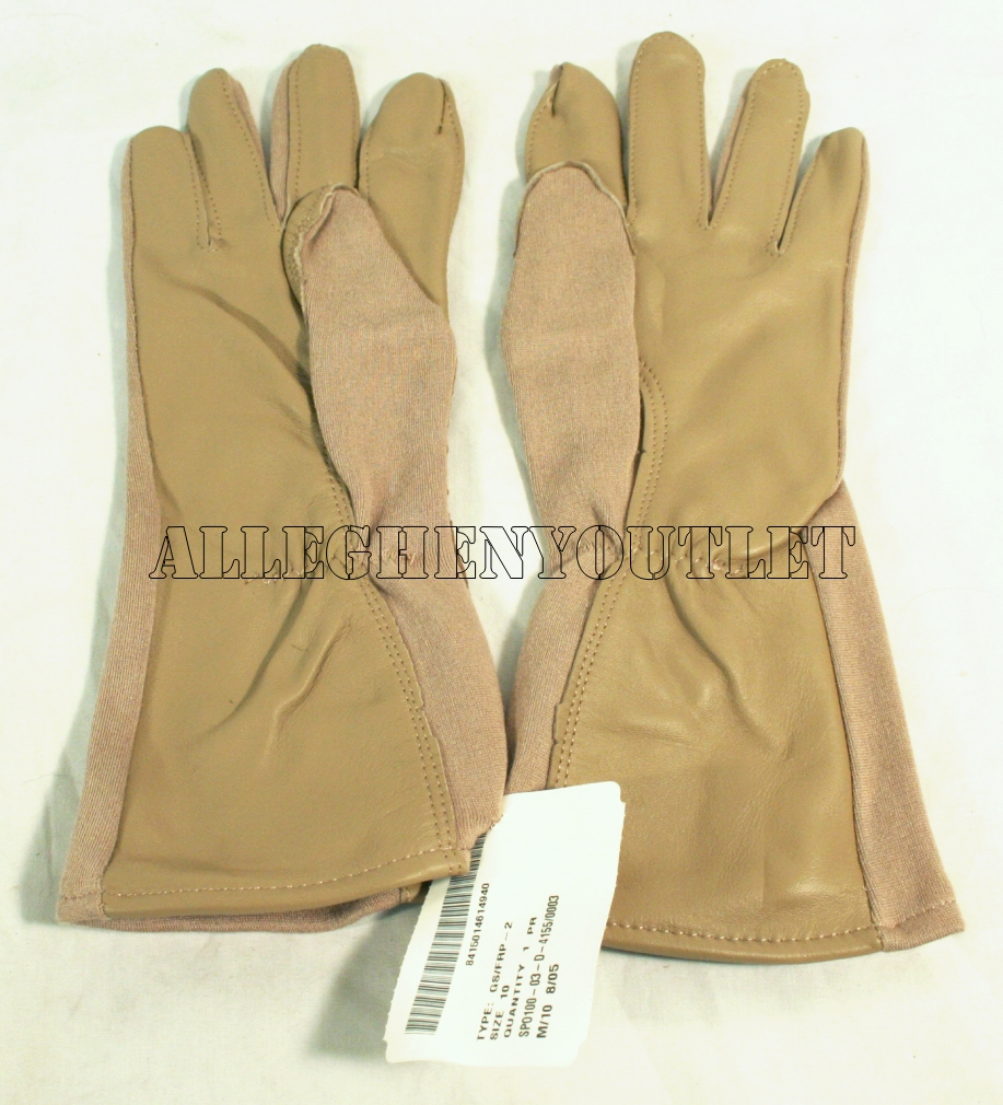 Leather work gloves ebay - Usgi Military Nomex Fireproof Tactical Flight Gloves Size 10