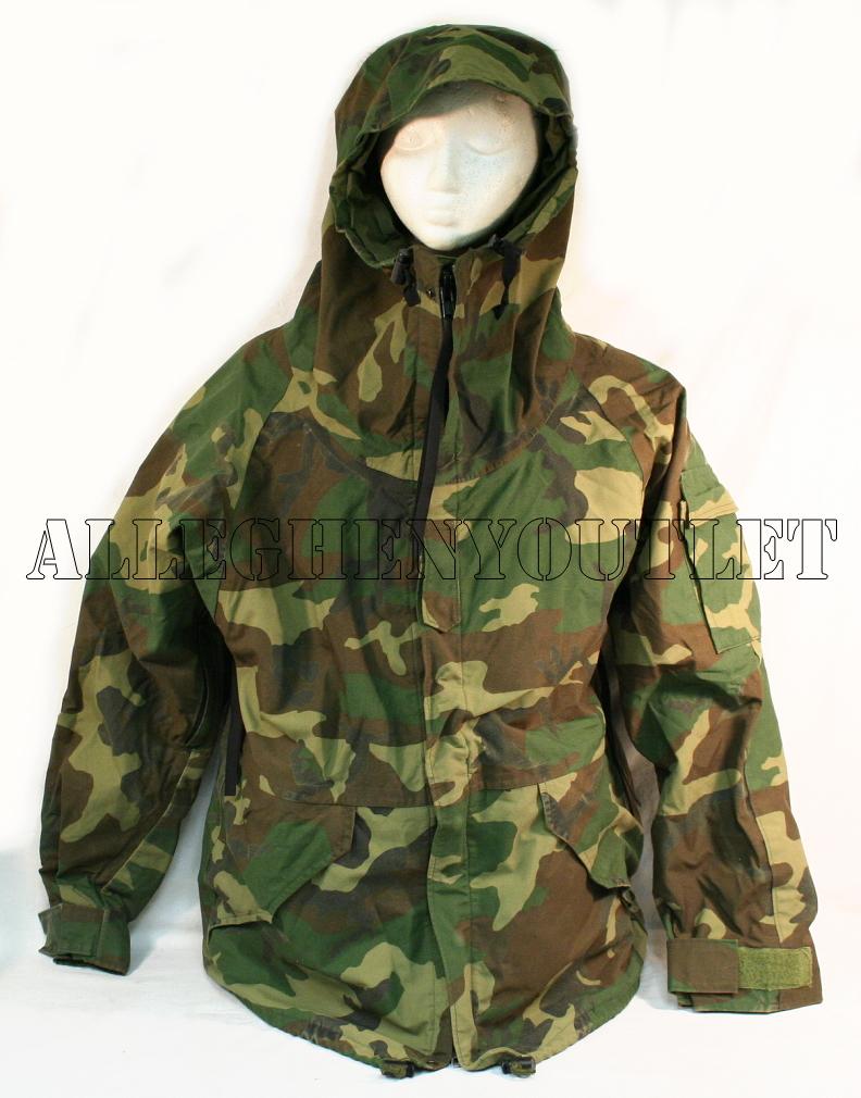 us military goretex ecwcs cold weather woodland camo parka jacket small reg ebay. Black Bedroom Furniture Sets. Home Design Ideas