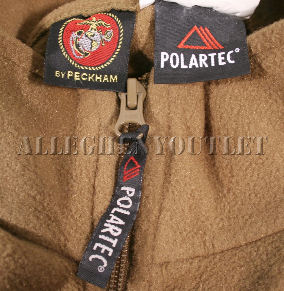 Usmc Polartec 100 Fleece 1 2 Zip Pullover Jacket Coat
