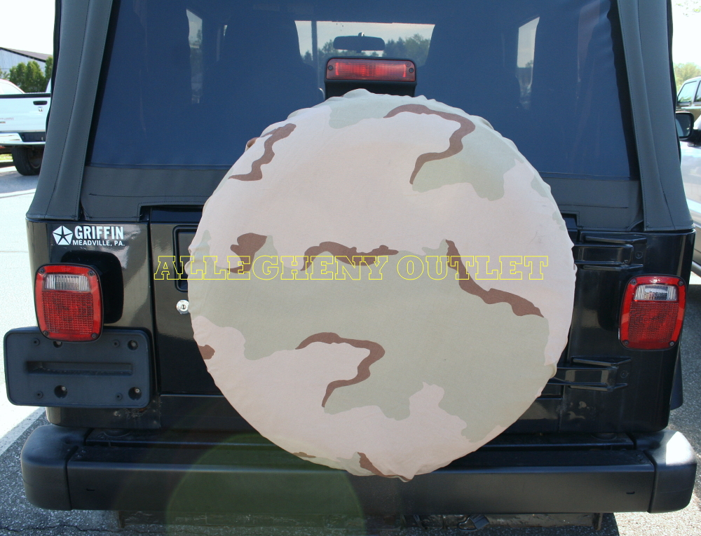 USGI MILITARY HUMMER SPARE TIRE RV COVER 4X4 WILLYS 3 COLOR NEW ...