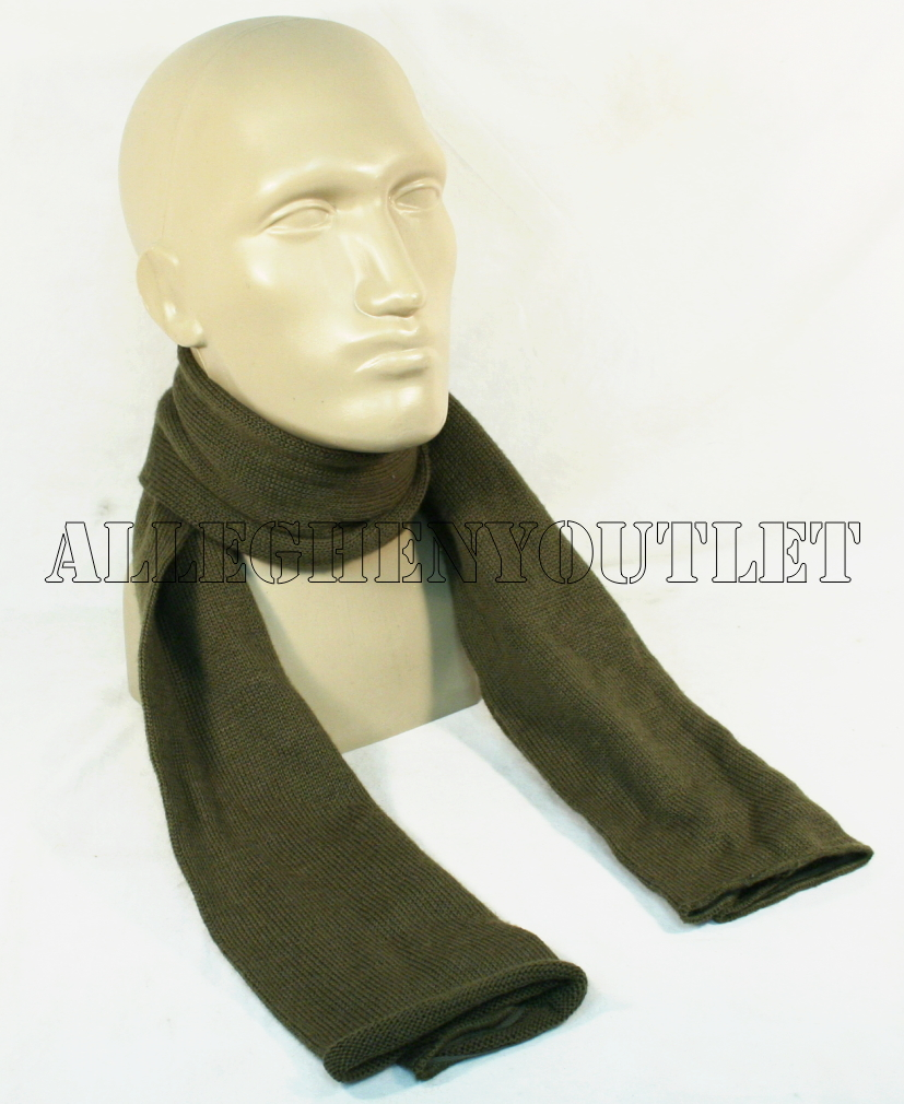 2 two us od green 55 quot 100 wool army scarf