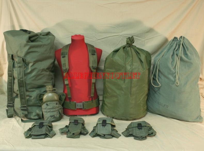 USGI Lot Duffle Ammo Pouch Laundry Scent Bag L Web Belt