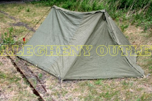 Usgi Military Army Pup Tent Two Man Shelter 2 Halves