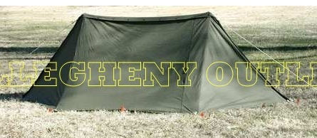 Military 2 Man Pup Tent COMPLETE SETUP NICE on PopScreen
