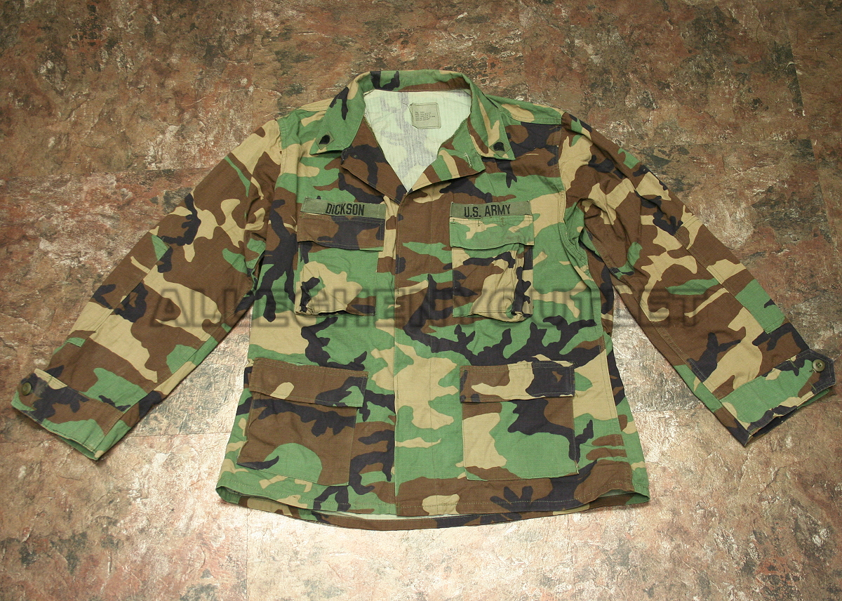 f5f31d1a8e75a Details about US Military ARMY Cotton Ripstop BDU FIELD JACKET COAT Woodland  MEDIUM / LONG VCG